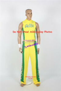 Yellow and green Eddy Gordo Cosplay Costume include accessory