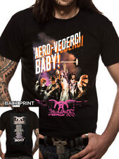 Official T Shirt AEROSMITH- AERO-VEDERCI BABY Black Mens Licensed Merch New