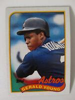 1989 Topps Gerald Young Houston Astros Wrong Back Error Baseball Card