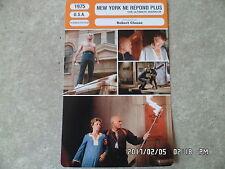 CARTE FICHE CINEMA 1975 NEW YORK NE REPOND PLUS Yul Brynner Max Von Sydow