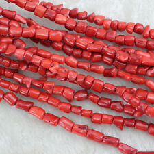 Freeform Red Coral Beads Semi Precious Gemstone Beads for Jewelry Making 15 Inch
