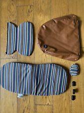 Mima xari Candy Stripe y accesorios de cuero marrón