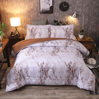 Marbled Supersoft Down Alternative Comforter Queen/King Size Bedding Set US