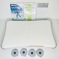 Nintendo Wii Fit Plus with Balance Board w/ Bonus Game COMPLETE WORKS Bundle Lot