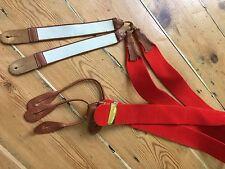 Vintage Albert Thurston Red Felt Cat Gut Braces
