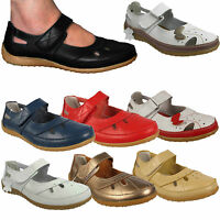 WOMENS LADIES BUTTERFLY LEATHER VELCRO COMFORT COMFY FLAT SHOES SANDALS SIZES