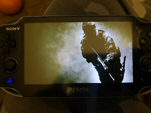 Modded Black PS Vita PCH-1000 3.73 Henkaku, 15 Preloaded Games, 69gb!!