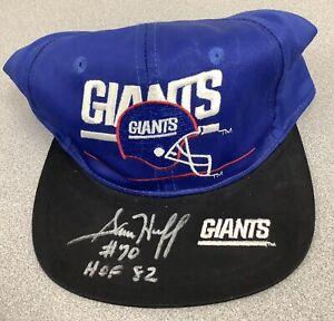 Sam Huff Signed Football Hat NY Giants Pro Bowl HOF CHOF All Pro JSA Insc 1