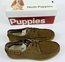 Hush Puppies Mens Shoes Loafers  9 Wide Warren Thorpe IIV Khaki Suede