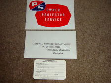 1966 Studebaker 3 Piece Owners Protection Manual Set. Blank card, Envelope