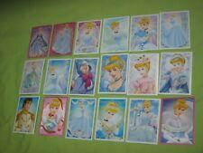 PANINI Disney PRINCESS STYLE 18 TRADING CARDS & Sticker Decal CINDERELLA Lot