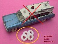 DINKY TOYS 277 : SUPERIOR CRITERION AMBULANCE 4 pneus blancs / four tyres whites