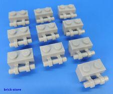 LEGO Nr- 4211580 / 1x2 Composante fondamentale avec Manche gris clair / 10-pc
