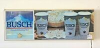 BUSCH SMOOTH REFRESHING BEER AND POPCORN LIGHT UP SIGN