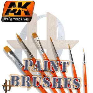 AK Interactive Hobby & Model Weathering Brushes -Saw Brush, Fan, Diagonal, etc