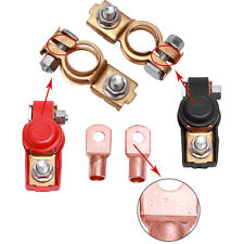 Adjustable Car Battery Terminal Clamp Clips Connector Copper & 3/8 Ring Terminal