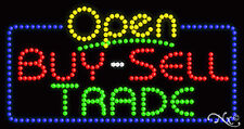 """NEW """"OPEN BUY-SELL TRADE"""" 32x17 SOLID/ANIMATED LED SIGN W/CUSTOM OPTIONS 25474"""