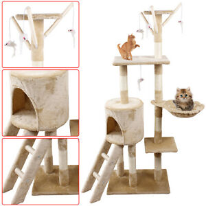 Cat Tree Scratching Scratcher House Kitty Activity Center Scratch Play Toy 140CM
