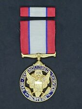 Us Army Distinguished Service medal in case with ribbon bar