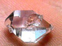 WATER-CLEAR NY AAA+ Jewelry Grade NY Herkimer Diamond Crystal 8-13 mm 4 Ct B381