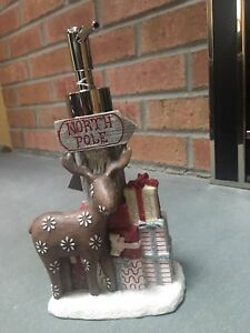 NWT Croscill Christmas North Pole Reindeer Holiday Soap Dispenser - Decor Gift