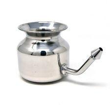 Stainless Steel Indian Jal Neti Pot Completely washable with a removable Free Sp