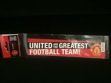 Manchester United Football MUFC Man UTD Car Window Sticker Official Product NEW