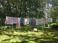 Beautiful Lot of 21 Vtg-Full and Half Aprons, One Reversible, One Terrycloth