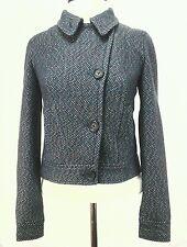 ARMANI EXCHANGE $178 AX Womens Coat Moto Jacket Blazer Blue Wool Blend XS