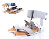 Gray Multi New Bamboo Thong Fashion Womens Flat Gladiator Sandals Shoes Size 6.5