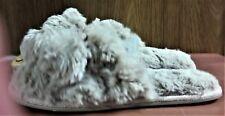 NWT Pj Couture Camel House Slippers, Women's 5-6 Small, Fuzzy Furry w/Pom Poms