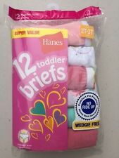 Hanes Toddler Briefs 12 Pack 2T-3T