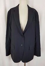 NWT Talbots The Gracie Fit Black Worsted Wool Jacket 2 Button Blazer Womens 14