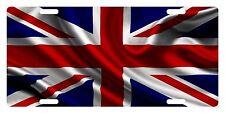 United Kingdom UK Flag Custom License Plate Union Jack Emblem Wave  Version