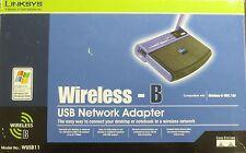 ☛*NIB* LINKSYS USB NETWORK ADAPTER WIRELESS B 11 Mbps DT WUSB11 Sealed A1☚