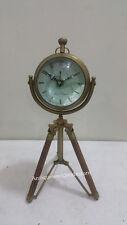 Antique Maritime brass desk clock Nautical Table Clock Vintage collectible
