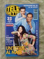 81) TELESETTE ITALIAN MAGAZINE N 29/1997 PANARIELLO LUANA COLUSSI LOLLOBRIGIDA