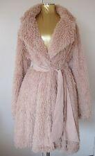 Princess Pink Blush Boho Shaggy Rocker Chick Faux Fur Petticoat Glam Sash Medium