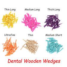 Dental Supply Interdental Composite Contoured Wooden Wedges Fixing Restoration