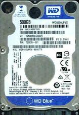 WESTERN DIGITAL SATA 500GB WD5000LPVX-60V0TT0  DCM: HVOT2AB,  DA0T2AB