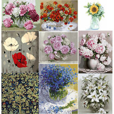 DIY Paint By Numbers Kit Digital Oil Painting Flowers Art Wall Home Decor