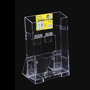 Clear Acrylic Business Card Holder Brochure Desk Stand Pamphlet Display Durable.