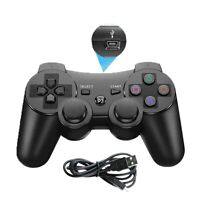 Black For Playstation 3 PS3 Sixaxis Wireless Blacktooth Controller Gamepad US