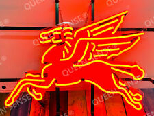 """New Mobil Gas Flying Pegasus Horse Bar Light Neon Sign 24""""x20"""" With Hd Vivid"""