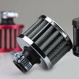 12mm Universal Breather Air Filter Oil Catch Tank Crankcase Vent Intake Black YN
