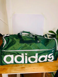 Adidas GIant Green sports holdall gym bag with shoulder strap