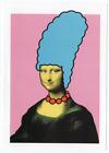 NICK WALKER MONA LISA SIMPSON POSTCARD PRINT SIMPSONS MARGE POW ART CARD LITHO