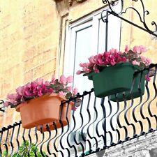 Fioriera vaso doppia autoreggente Bama Klunia cm 40 balconetta giardino terrazzo