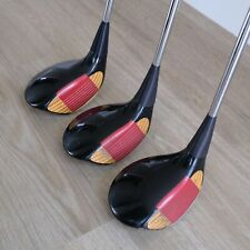 Classic PING EYE 2 Woods (driver, 3, 5)  original grips and shafts, wooden heads