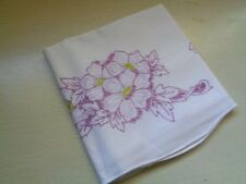 Sweet Dreams Vintage White Cotton Pillowcase Sham Embroidered Flowers